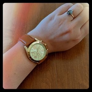 Forever 21 leather and gold faced watch
